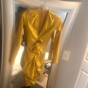 Pretty Little Things Yellow/Gold dress size small